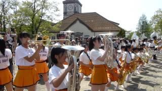 京都橘高等学校 吹奏楽部 (ユーフォニアム euphonium) 音楽の丘 ブルーメンパレード! 20150426 14:00~ 響け!ユーフォニアム♪