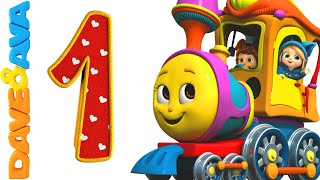 Number Song | Number Train 1 to 10 | Counting Song and Nursery Rhymes from Dave and Ava