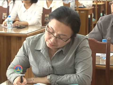 Lao NEWS on LNTV:3 dept DG of the Ministry of Finance promote to deputy ministerial.11/3/2014