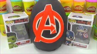 Avengers Age of Ultron Movie Giant PLAY DOH Surprise Egg