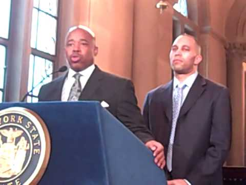 Sen. Eric Adams announces legislation to address state police misconduct