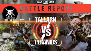 Warhammer 40,000 Battle Report: Tyranids vs Tallarn 1500pts