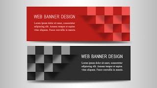 Photoshop Tutorial | Web Banner Design | 3D Boxes