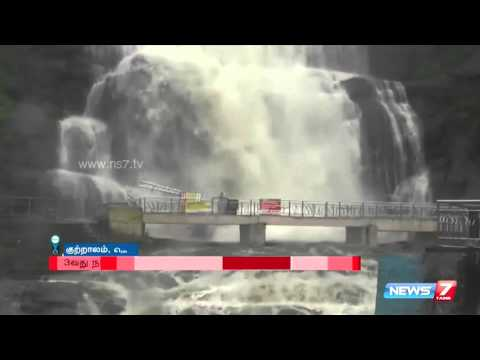Ban on taking bath at Courtallam extended after heavy water fall   News7 Tamil