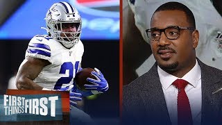 Cowboys have struggled to stick with Zeke because of turnovers — Canty | NFL | FIRST THINGS FIRST