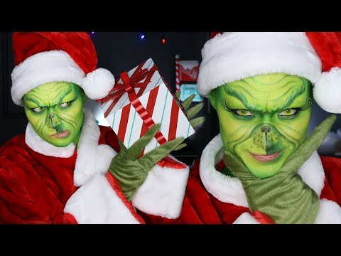 ITS... THE GRINCH!! | Holiday Makeup Tutorial