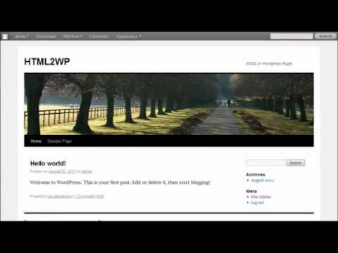 0 Convert HTML to Wordpress without Programming Knowledge