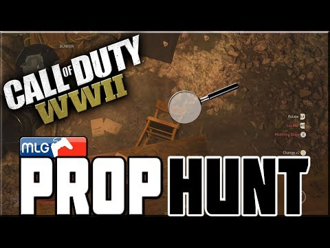 MLG PROP HUNT ON CALL OF DUTY WWII!