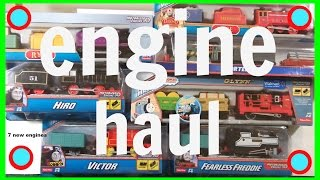 Thomas and Friends Engine Haul - 7 New Engines for Toy Stew!