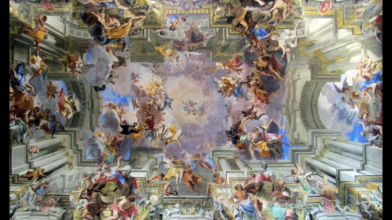Pozzo Glorification Of Saint Ignatius Ceiling Fresco In