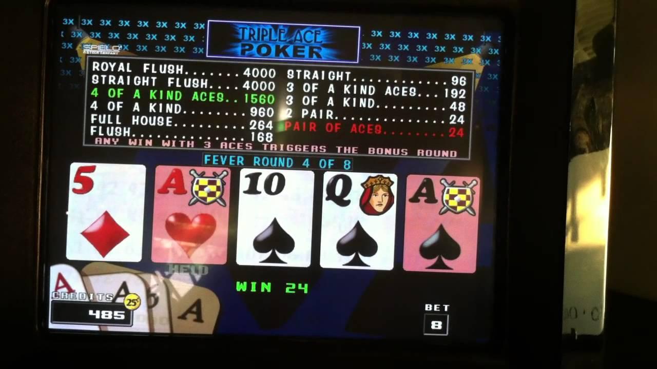 free video poker slots with triple multiplier