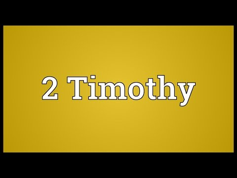 Header of 2 Timothy