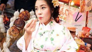 Authentic Street Food in Kyoto, Japan!!