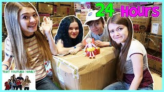 24 Hours In Toys R Us Box Fort Ft. Kittiesmama / That YouTub3 Family