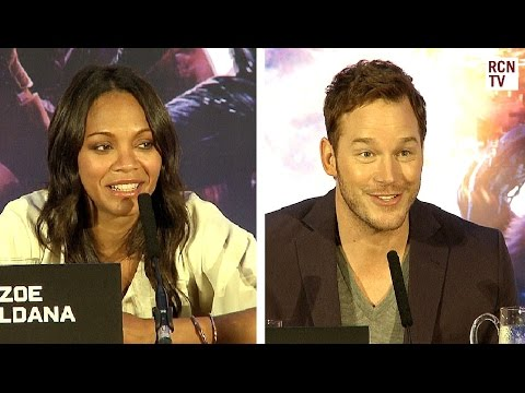 Chris Pratt & Zoe Saldana Interview - Best Character - Guardians of the Galaxy Premiere