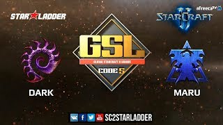 2018 GSL Season 1 Ro4, Match 2: Dark (Z) vs Maru (T)