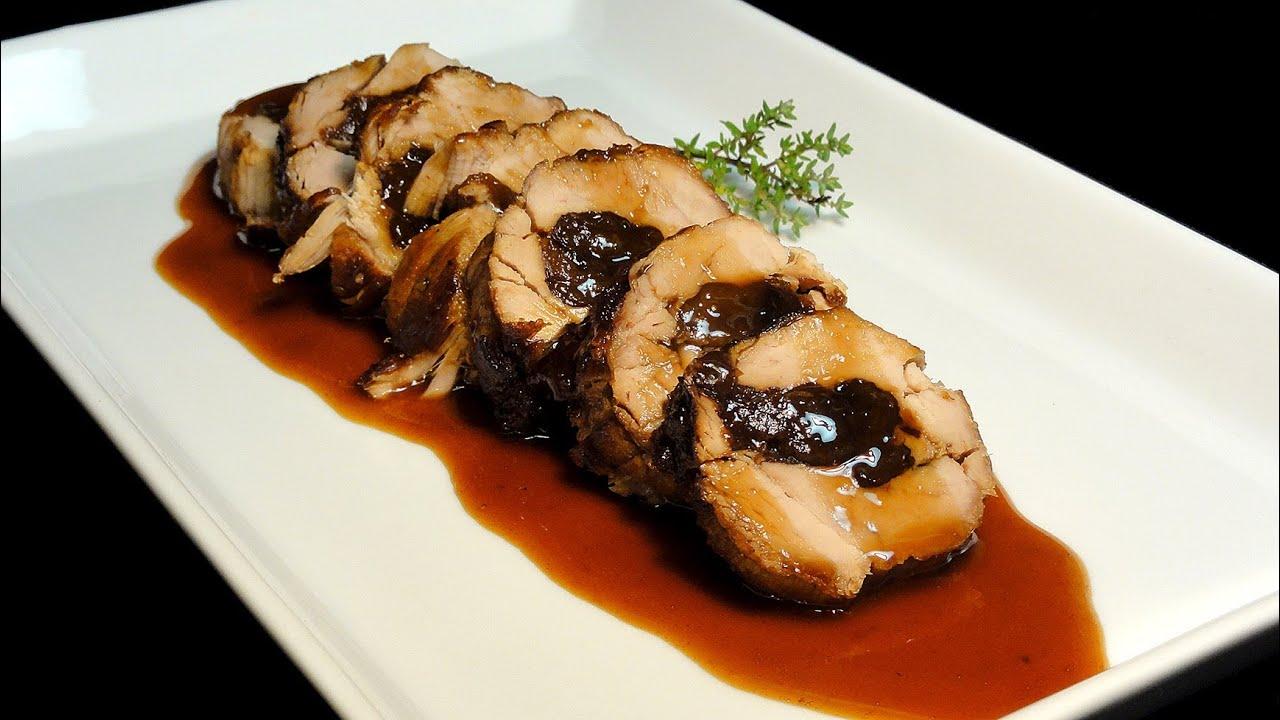 Solomillo de cerdo relleno de ciruelas recetas de cerdo - Solomillo cerdo al horno ...