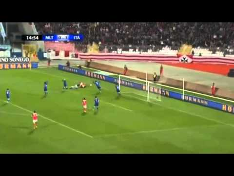 Malta 0-2 Italy - Balotelli Goals -World Cup Qualifier 26_3_2013 Match Highlights HD