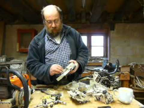 Part 2: Stihl chainsaw main bearing replacement .026 / MS260. Fitting the bearings to the crank.