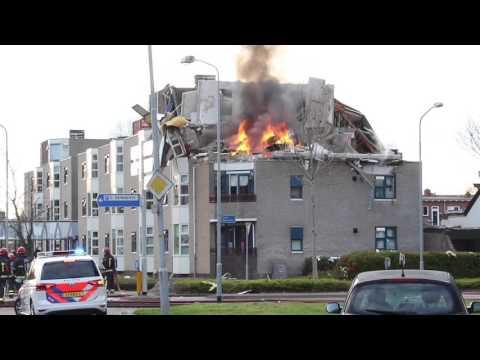 Veendam - Gasexplosie in appartementencomplex
