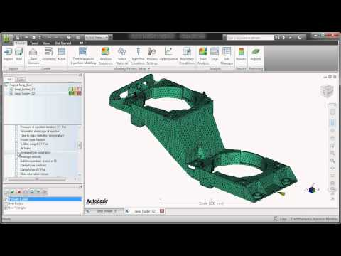 Autodesk - Moldflow 2012 - Fiber Orientation in Plastic Part Designs