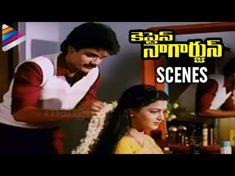 Manam Nagarjuna - Captain Nagarjuna Movie Scenes - Nagarjuna & Kushboo Getting Married video