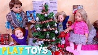 AG Baby Dolls Family DIY Dollhouse and Christmas Tree! Decoration