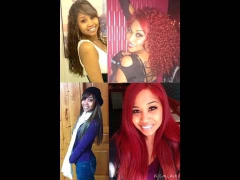 Dye dark hair to Rihanna  RED without Bleach!! Loreal HiColor Hilights