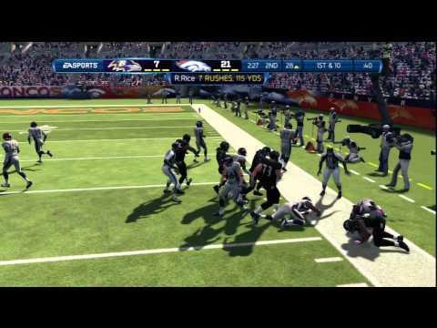 Madden 13:Broncos Vs Ravens Madden 13 Online Gameplay-No Soup 4 U