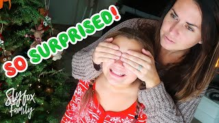 🎄❄️A CHRISTMAS EVE SHE'LL NEVER FORGET!!🎅🎁 Huge Early Christmas Eve Surprise!! | Slyfox Family