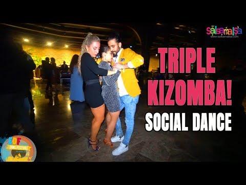 TRIPLE KIZOMBA Social Dance! | EDF-2018