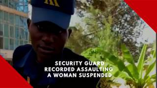 Security guard recorded assaulting a woman has been suspended