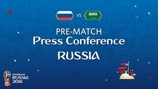 FIFA World Cup™ 2018: Russia - Saudi Arabia: Russia Pre-Match Press Conference