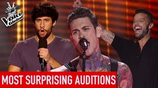 The Voice | TOP 5 MOST SURPRISING Blind Auditions [PART 2]