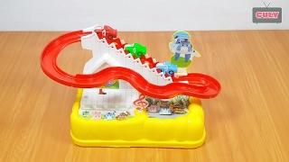 Đồ chơi ván trượt cầu thang Robocar Poli và các bạn   toy for kids childrens