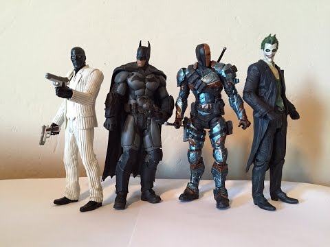 DC Collectibles Arkham Origins Batman. Joker. Black Mask. Deathstroke 4-Pack Review