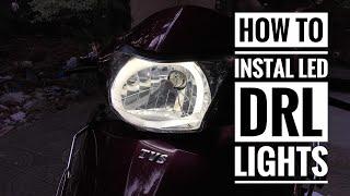 How to install Led Drl in Tvs jupiter or Honda Activa.