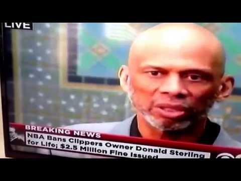 kareem abdul jabbar response Donald sterling Fine L.A Clippers
