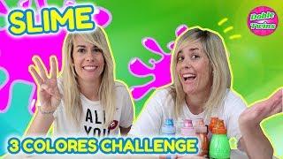 RETO SLIME 3 COLORES | 3 COLORS SLIME CHALLENGE | Slime vs Slime | Doble Twins