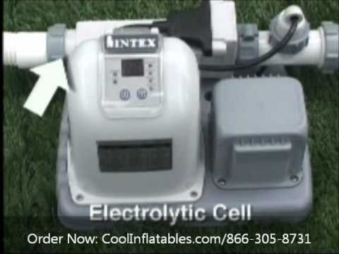 Intex Saltwater System Model 8110 Setup Instructions Youtube