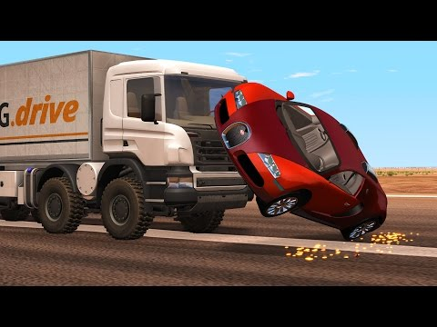BeamNG Drive High Speed Crash Compilation Montage #3