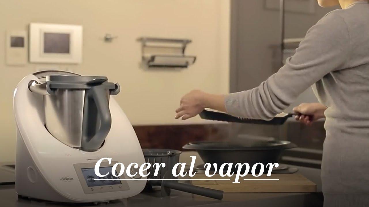Thermomix tm5 funcion de cocinar al vapor espa ol youtube for Cocinar en 5 minutos