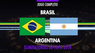 Full Match - Brazil vs Argentina - 2018 Fifa World Cup Qualifiers - 11/10/2016