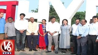 Minister KTR Visits Raj Nagar, Launches Love Hyderabad Symbol At Necklace Road