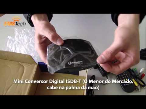 Mini Conversor Digital Greatek HDMax Padrão ISDB-T Com Função Gravador