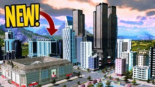 How to Design a Realistic City Center in Cities Skylines! #TeaVille
