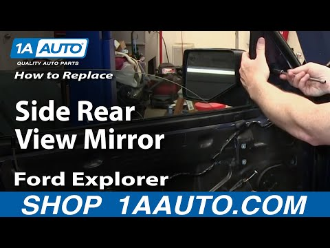 How To Install Replace Side Rear View Mirror 2006-10 Ford Explorer