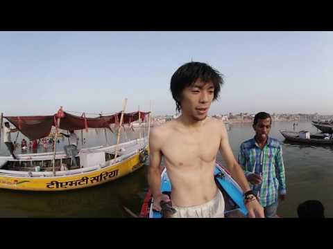 世界一周VR旅 インド#5[ガンジス川にダイブ! In to the Ganges] VR Feel Travel
