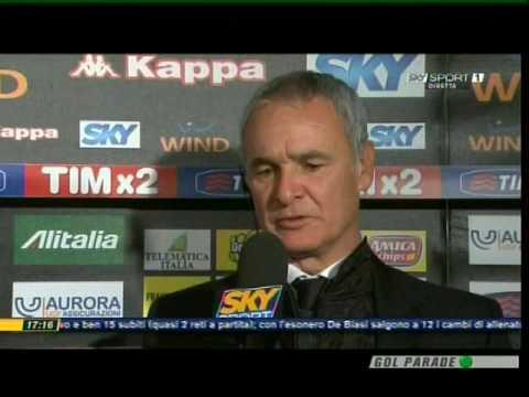 Roma Catania 1-0 - intervista sky fine partita Claudio Ranieri