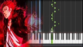 K Project (アニメ「K」) OST - Suoh Mikoto (Piano Synthesia Tutorial + Sheet)